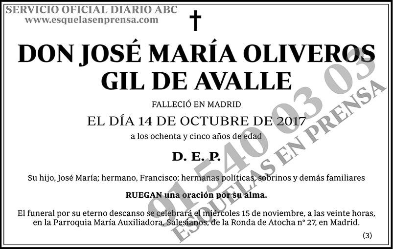 José María Oliveros GIl de Avalle